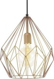 EGLO Vintage Hanglamp - Koper / Bruin
