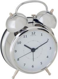 Nextime Wake-up Wekker Zilver Metaal - 8,5 cm