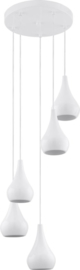 EGLO Nibbia - Hanglamp - 5 Lichts - Wit