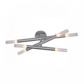 Lucide SLIMMERS Plafondlamp 6x28W Aluminium 12158/26/12