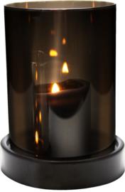 Gusta Windlicht 14xh18 cm - Smokey