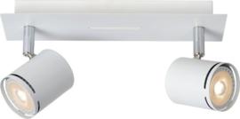 Lucide RILOU - Plafondspot - LED Dimb. - GU10 - 2x5W 3000K - Wit