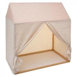 Speelhut meisje - Kinderkamer - Speelkamer - 116 x 126 - Zacht roze