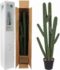 Mica Decorations cactus in plastic pot maat in cm: 32 x 20 x 115