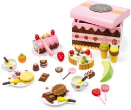 Houten Box met zoetigheid (teatime)