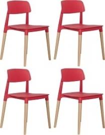 Cake Chair - Rood - Set van 4 Stoelen