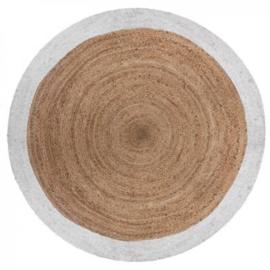 Jute Kleed Met Witte Rand - Ø120 cm