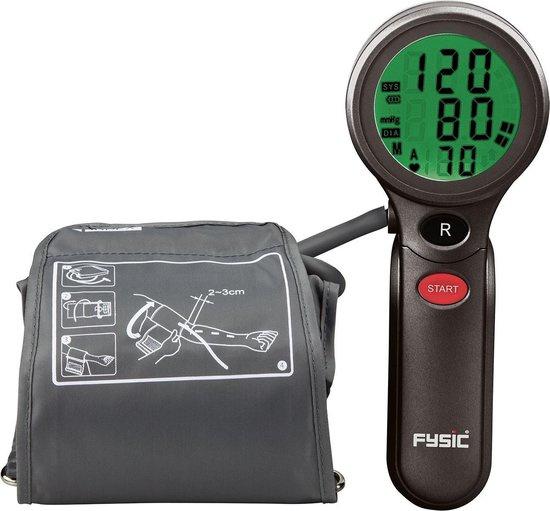 Fysic FB-180 Bloeddrukmeter - Bovenarm bloeddrukmeter - Geheugen voor 90 metingen - Antraciet