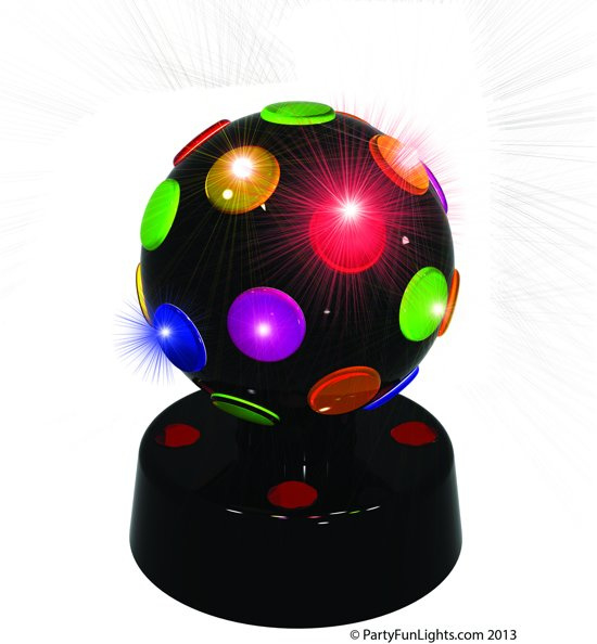 Party Fun Lights Discolamp - 8 inch - Zwart
