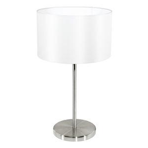 Eglo Maserlo Tafellamp 1 Lichts -Nikkel Mat Wit