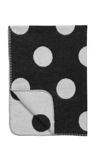 Meyco Black Label Organic Big Dot Wiegdeken 120x150 cm - Zwart/wit