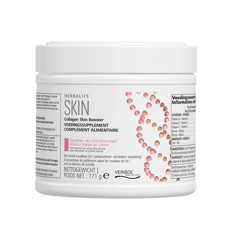 Collageen Skin Booster Aardbei- en citroensmaak 171 g incl. gratis lepel