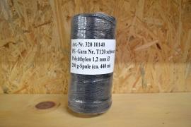 Polyetheleen koord 1,2mm zwart ca. 440 meter