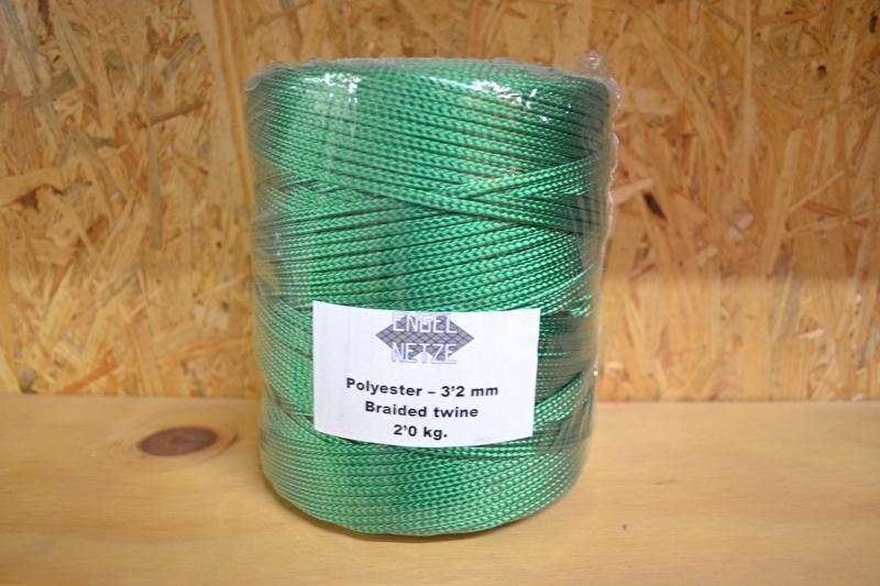 Polyester koord 3,2mm groen
