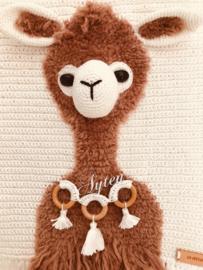 Wand decoratie alpaca