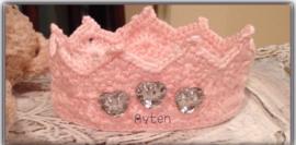 Haarbanden pasgeborene. Roze kroontje
