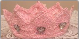 Roze haarbandje met strasstenen