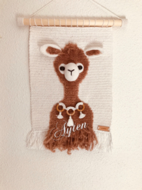 Wand decoratie alpaca
