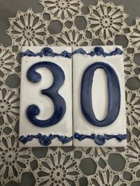 HuisNummer delfsblauw