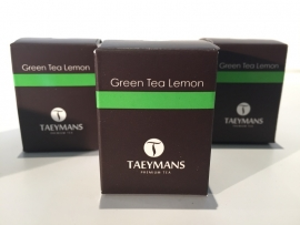 TAEYMANS PREMIUM TEA Green Tea Lemon (48 doosjes - display)