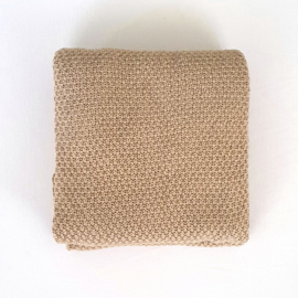 Knitted Blanket - Organic Cotton - Beige