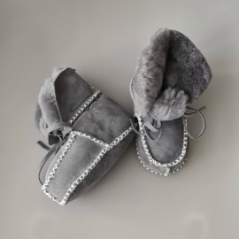 Baby - Lammy Booties - Grey Rocks!