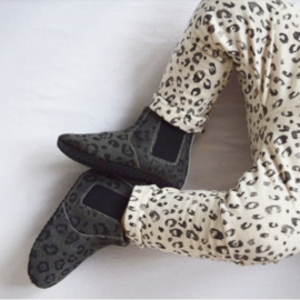 Baby - Chelsea Booties - Dark Grey Leopard