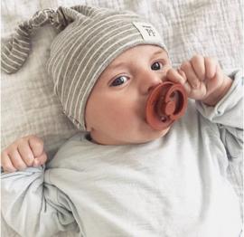 Knot Hats Set of 2 - Breton Stripes & Grey