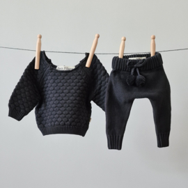 Knitted Pants - Cotton - Graphite