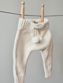 Knitted Pants - Cotton - Ivory