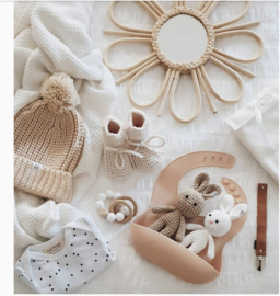 Baby - Knitted Booties - Ivory