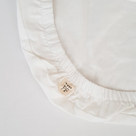 74 x 43 cm - Linen Fitted Sheet to fit our Moses Basket Mattress - White