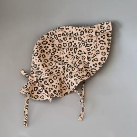Linen Sun Hat - Leopard