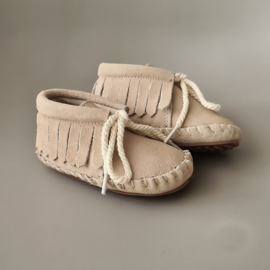 Toddlers/Kids - Suede Fringe Boots - Sand