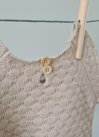 Knitted Sweater - Cotton - Oatmeal