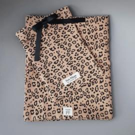 Baby - Linen Flat Sheet 90 x 110 cm - Leopard