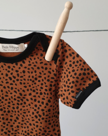 Baby Bodysuit - Short Sleeves - Brick Cheetah