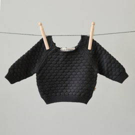 Knitted Sweater - Cotton - Graphite