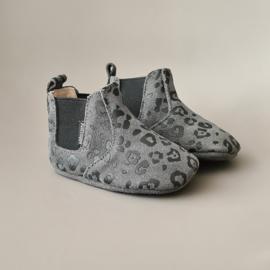 Baby - Chelsea Booties - Dark Grey Leopard