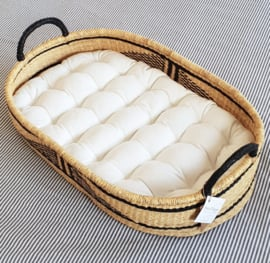 Matrasje van organisch katoen voor onze Baby Changing Baskets