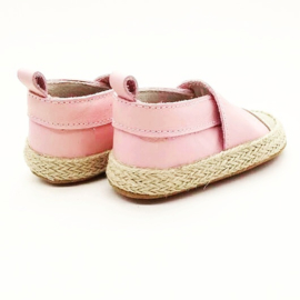 Baby - Leather Espadrilles - Pink & Gold