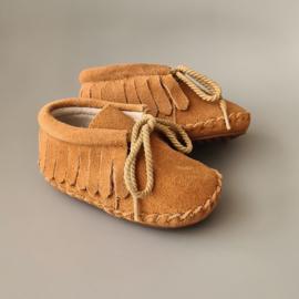 Toddlers/Kids - Suede Fringe Boots - Caramel