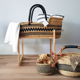 Rocking Moses Basket Stand - Natural
