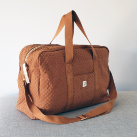 Quilted Mommy Bag - Brick