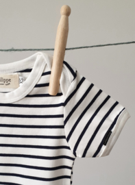 Baby Bodysuit - Short Sleeves - Breton Stripes