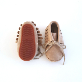 Toddlers & Kids - Suede Fringe Boots - Sand