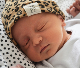 Knot Hats Set of 2 - Breton Stripes & Leopard