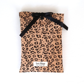 Toddler - Linen Flat Sheet 120 x 150 cm - Leopard