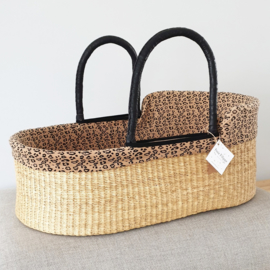Cotton Moses Basket Liner - Leopard