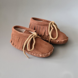 Toddlers/Kids - Suede Fringe Boots - Chocolat